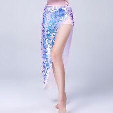 Belly Dance skirt Sequins Dancing Hip Wrap Belt Scarf Skirt Beach Wrap Skirt