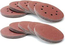 """5"""" 125mm Round HOOK & LOOP Sanding Disc Pads 8 Hole Sandpaper 40 - 220 GRIT"""