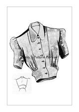 Vintage Blouse Sewing Pattern 1940 Blouse Eclair Coupe Paris VTG Wartime Top