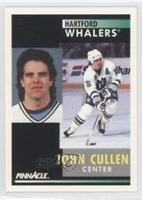 1991-92 Pinnacle #125 John Cullen Calgary Flames Hartford Whalers Hockey Card