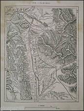 Antica StampaTopograf.VAL DI CHIANA.TOSCANA UMBRIA.1887