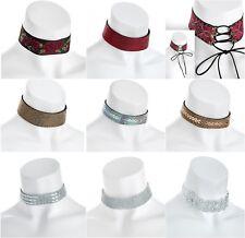New Crystel lace Choker Charm Necklace Vintage Chocker Punk Retro Black Collar