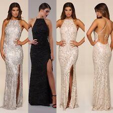 Honor GOLD HARLEY sequin maxi robe soirée dos-nu modèle long bal soirée robe