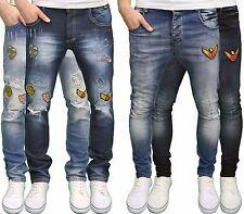 Juice Generation Hombre Diseñador Marca DETALLADO skinny / Vaqueros Corte Slim ,