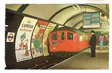 Underground Train - Piccadilly Circus Postcard c1950