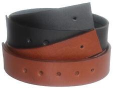Qha UOMO GENUINE Cowhide 100% Vera Pelle Cinghia della Cintura Senza Fibbia q52019