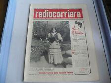 RADIOCORRIERE N10 1952 FESTIVAL SANREMO DAPPORTO CHIARI