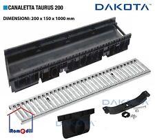 Canaletta Taurus 200 Raccolta Scolo Acqua Componibile Griglia Acciaio Zingato
