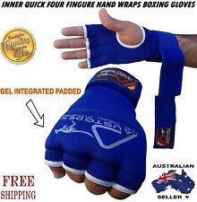 Austodex Inner Quick Hand Wraps Fist Gel Bandages MMA boxing Gloves bar straps