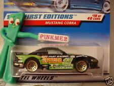 Hot Wheels #18 fe  MUSTANG COBRA #665 ∞ var green;Cosen;olive 11;M∞First Edition