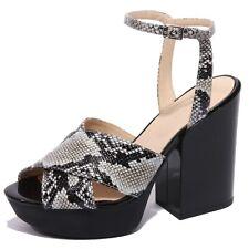 B1742 sandalo donna HOGAN scarpa ghiaccio nero shoes women