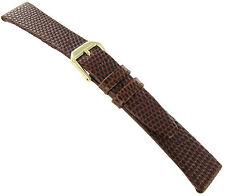 18mm Kreisler Lizard Grain Mens Brown Leather Watch Band Reg BUY 1 GET 1 FREE!