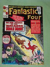 "FANTASTIC FOUR, Comic #31 - 1964, ""The Macabre Mole Man!"", Very Good Plus Cond"