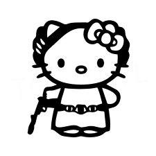 """5"""" Hello Kitty Princesse Leia Autocollant Vinyle Autocollant Voiture Fenêtre Ordinateur Portable Star Wars Rip"""