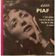 EDITH PIAF 45 RPM  EP,J'SUIS MORDUE,LE CHACAL,TOUT FOUT LE CAMP, VG COND