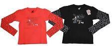 T-shirt da bambina nero corallo Billabong girocollo manica lunga casual cotone