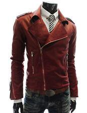 DE Herren Lederjacke Biker Men's Leather Jacket Coat Homme Veste En cuir R12d
