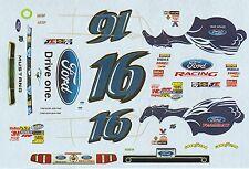 "#16 Trevor Bayne FORD ""DRIVE ONE"" 2011 JACK ROUSH Decals"