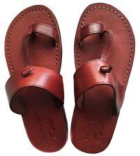 Camel Jesus Sandals Leather Greek Roman For Men Shoes US 5-16 EU 36-50 Model 10
