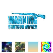 Shotgun Owner Warning - Vinyl Decal Sticker - Multiple Patterns & Sizes - ebn731