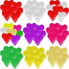 Herz Luftballons Ø 30 cm Farbe & Stückzahl frei wählbar Herzballons Luftballon