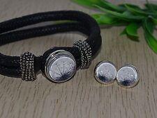 Pusteblume +++ Armband Ohrringe Set Ohrstecker Brisur silber Button Druckknopf