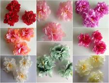 3 Large Artificial Simulation Fabric  Peony Flower Head 8 cm