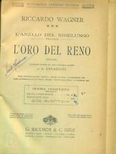 L'ORO DEL RENO  RICCARDO WAGNER RICORDI 0000