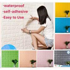 10pcs 3D Foam Stone Brick Self-adhesive Wallpaper Home Wall Sticker Panels Pad