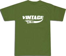 VINTAGE EST 1962 Cool T-Shirt S-XXL # Verde