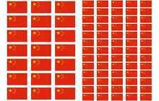 China Flag Stickers rectangular 21 or 65 per sheet