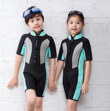 Kids Children Neoprene 2mm Short Diving Suit Boy Girl Surf Scuba Short Wetsuits