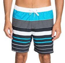 Quiksilver YG Stripe Volley Mid Length Board Shorts in Hawaiian Ocean