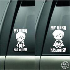 MY HERO HAS AUTISM awareness new Decal boys girls car window wall sticker DC39