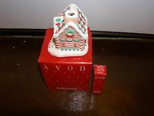 Avon Sugary Scents Collection Ceramic Gingerbread House Diffuser & Oil Rare NIB