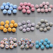 Micro Pave Rhinestone Shamballa Beads Czechs Disco Balls Bracelet Jewelry 12mm