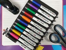 Funny Pen Office Stationary Novelty Rude Sweary Profanity Pens Birthday Gift Fun