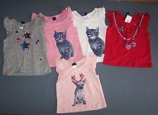 NWT Baby Gap Pink Gray Red Summer Cat Dog 4th July SHIRT 0-3 mo 3-6 mo 18-24 mo