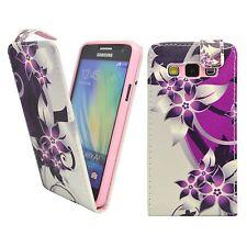 para Samsung Galaxy A5 estampado de flores, color morado y Crema