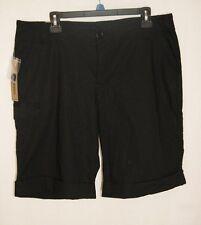 NWT New Women's DKNY Bermuda walking Shorts with rolled cuff & cargo pocket