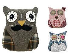 LUSSO Retro Owl Riempito cuscini con MOTIVO MR OWL Cheeky Gufo Civetta occhi chiusi