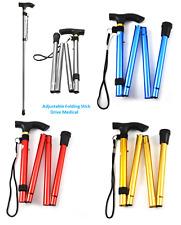 Heavy Duty Medical Adjustable Folding Walking Stick Aluminium Light weight-4 col