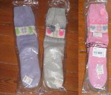 DISNEY MICKEY BAMBI TINK LADIES SWEATER SLIPPER BOOTIE SOCKS LOT OF 3 HARD SOLES