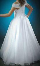 Kleid +/- Jacke 134-140-146 Kommunionkleid Taufkleid Bolero Prinzessin neu LEA