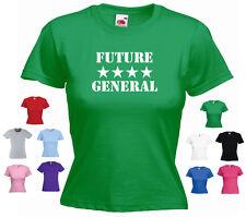 'Future (4 Star) General'  Funny Ladies Girls Army RAF Navy T-shirt