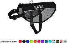 "DEAF DOG Mesh Vest with Removable Reflective Patch Size 13"" - 38"""