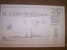 USS SOMERS DD381 ship plan
