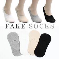 5 Pairs Men Women Low Cut No Show Invisible Premium Quality Cotton Fake Socks