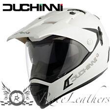 DUCHINNI D311 GLOSS WHITE DUAL SPORT ADVENTURE MOTORCYCLE MOTORBIKE BIKE HELMET