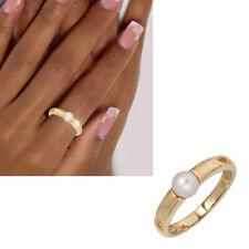 Ring 585 echt Gold mit Perle Gelbgold 14 Karat schlicht Damen Gr. 50-60 neu